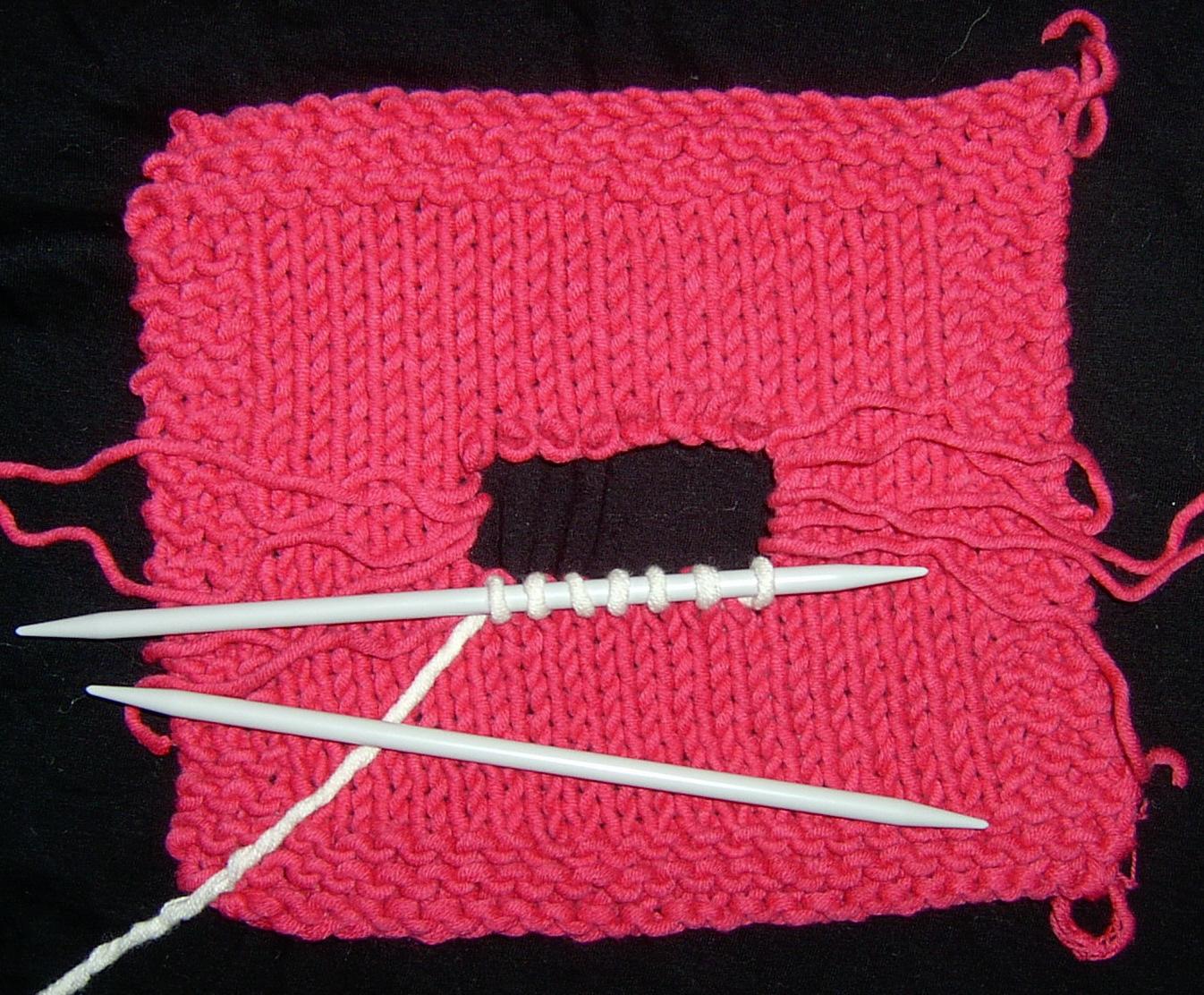 Knitting Lifeline Hole : Knitty repairs
